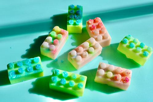 Mini Block (lego style) Soaps -set of two