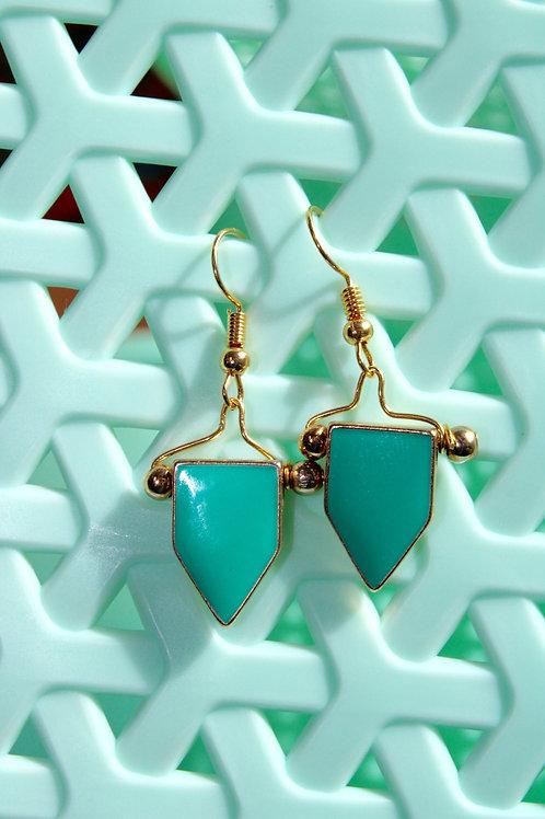 Sea-Green enamel- limited earrings