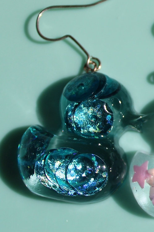 Ngaire earrings- blue shine
