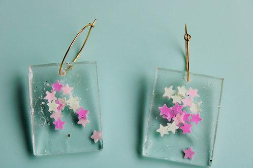 Livi Confetti -Pink and White Stars