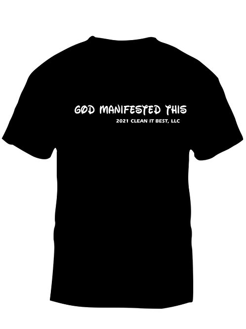 God Manifested This 2021 Black Tee