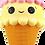 Thumbnail: Cute Ice Cream Lazy Lampoon Keychain