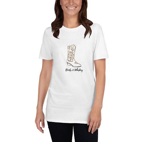 BOOTS & WHISKEY Short-Sleeve Unisex T-Shirt