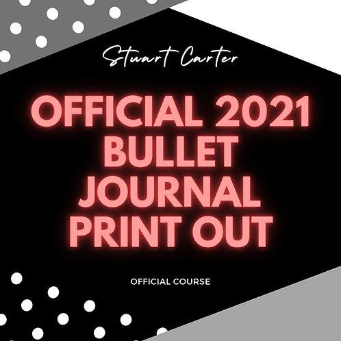 Stuart Carter Official 2021 Bujo Templates