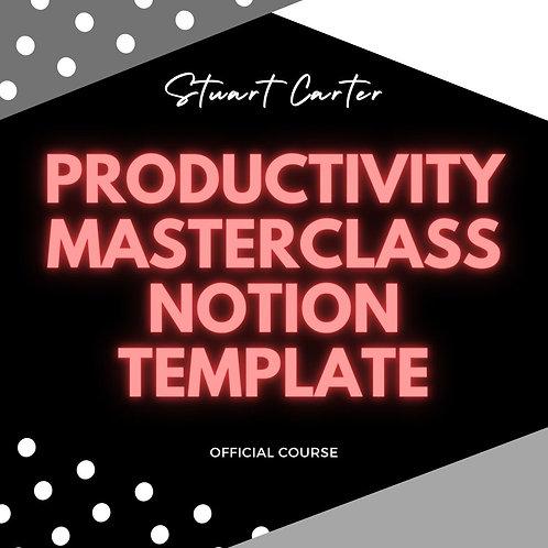 Productivity masterclass Notion Template