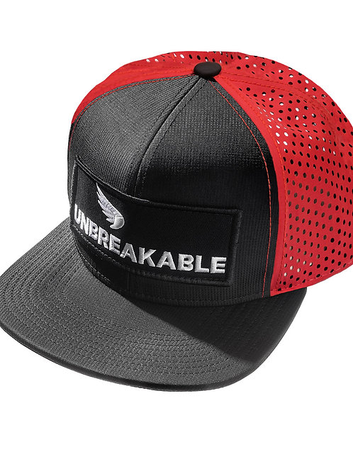 UNBREAKABLE PATCH TRUCKER CAP - PATCH (RED-BLACK)