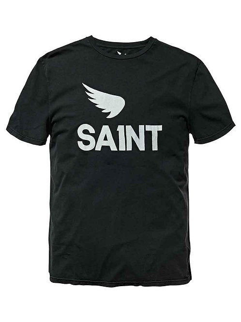 SAINT NUMBER 1 VINTAGE TEE (BLACK)