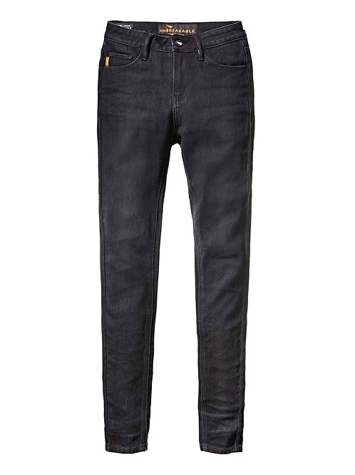 WOMENS STRETCH HIGH RISE JEANS - JET