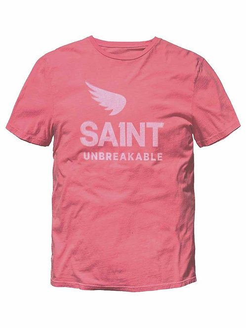 SAINT UNBREAKABLE VINTAGE DECONSTRUCTED TEE - PINK