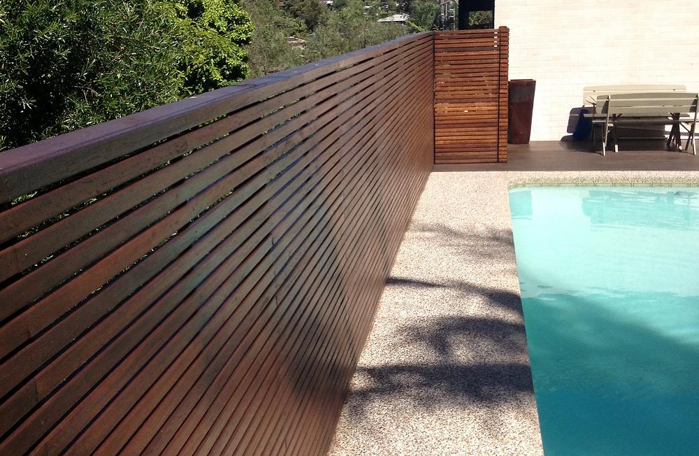 Hardwood Swimming Pool Screen