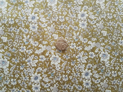 Rose & Hubble 100% Cotton Poplin Fabric - Small Floral design - Sage Green