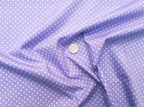 Rose & Hubble 100% Cotton Poplin Fabric - 3mm Polkadot Spot - Lilac