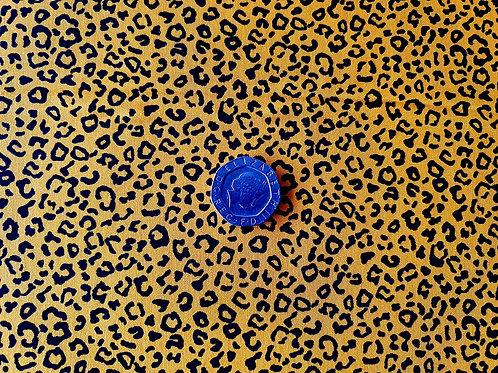 Rose & Hubble 100% Cotton Poplin Fabric - Mini Leopard Animal print - Gold