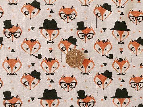 Rose & Hubble 100% Cotton Poplin Fabric - Mr Fox