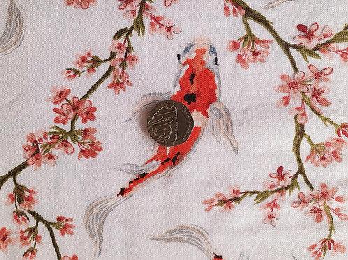 John Louden True Craft Cotton Poplin Fabric - Carp Fish