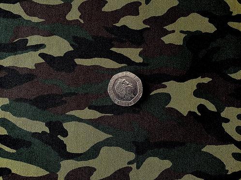 Rose & Hubble 100% Cotton Poplin Fabric - Jungle Camouflage Cammo