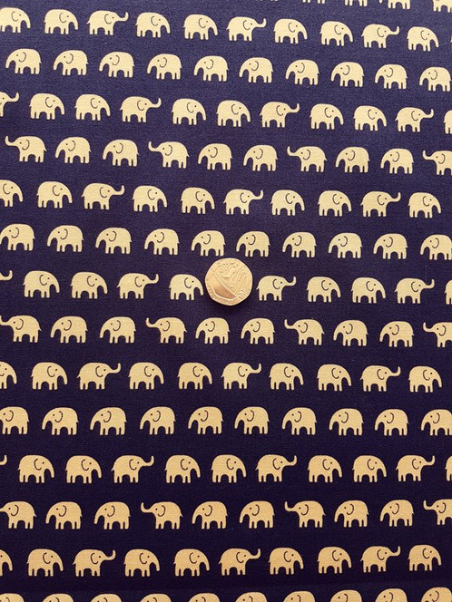 74ea0d0b5d The base colour is Beige with a Navy Elephant design. Matching coordinated  design is also available on this listing.