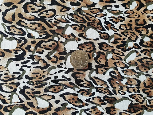 Top Quality Digital Print Viscose Dress Fabric - Brown Leopard Print-145cm wide