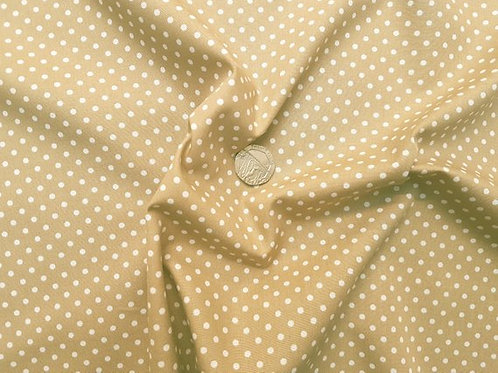 Rose & Hubble 100% Cotton Poplin Fabric - 3mm Polkadot Spot - Taupe