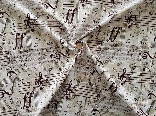 100% Cotton Poplin Fabric designed by Hancock Fabrics - Musical Notes