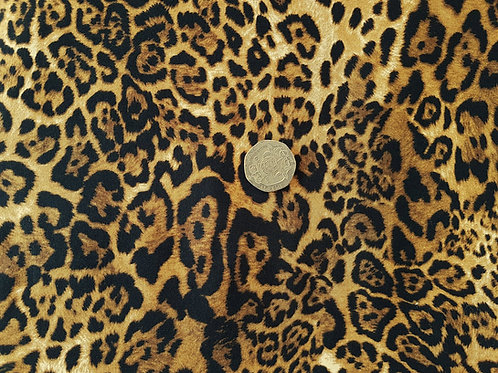 Rose & Hubble 100% Cotton Poplin Fabric - Leopard Animal print - Dressmaking , Q