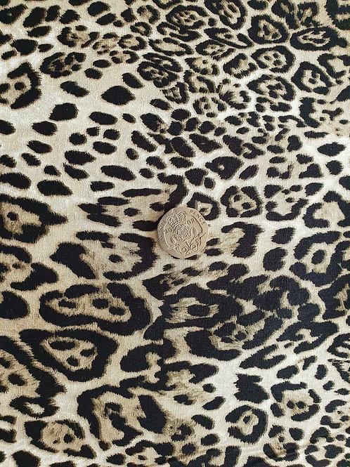 Rose & Hubble 100% Cotton Poplin Fabric - Lynx Animal print