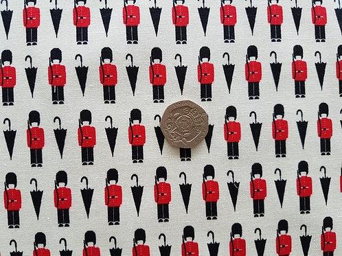 John Louden 100% Cotton Poplin Fabric - British Guardsman