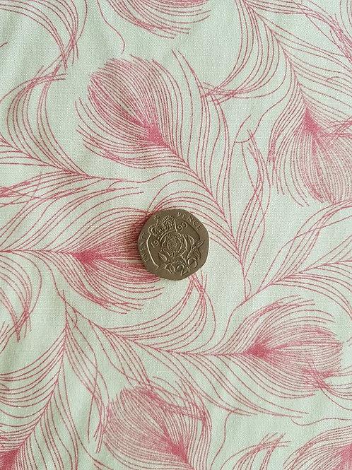 Rose & Hubble 100% Cotton Poplin Fabric - Pink Feathers