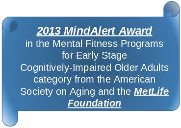 2013 MindAlert Award