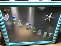 Abstract Starfish Sea Glass Mosaic