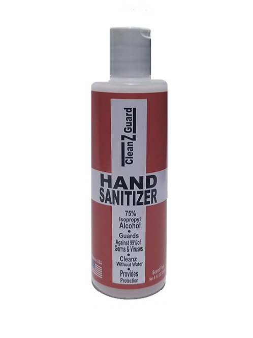 CleanzGuard Hand Sanitizer Gel 4oz Bottle