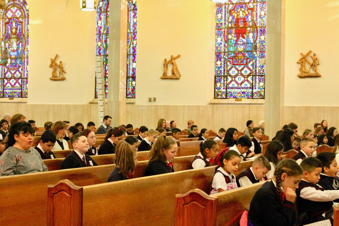Friday Mass at Sacred Heart