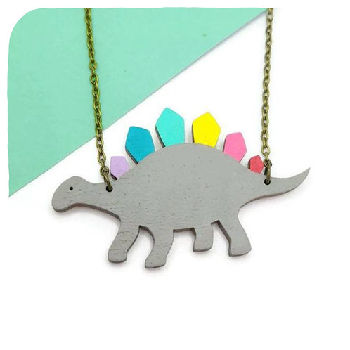Rainbowsaur Necklace
