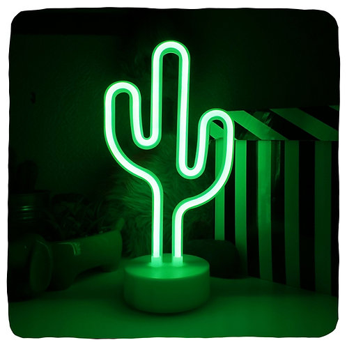 Cactus Neon Lamp