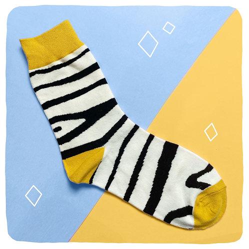 'Neigh Bother' Zebra Socks