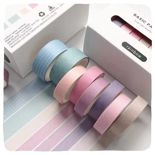 Washi Tape 8 Roll Set - Rainbow