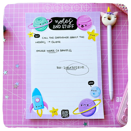 'Notes and Stuff' A5 Premium Notepad