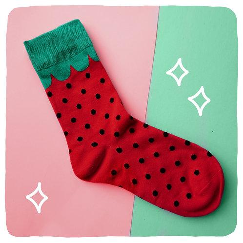 Dotty Strawberry Patterned Socks