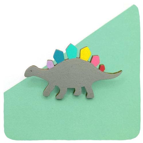 Rainbowsaur Brooch