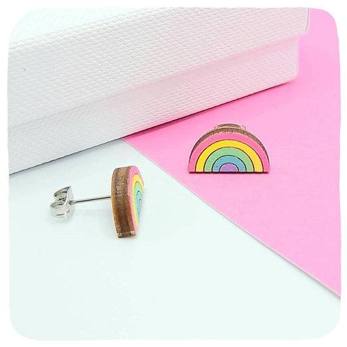 Pastel Rainbow Stud Earrings