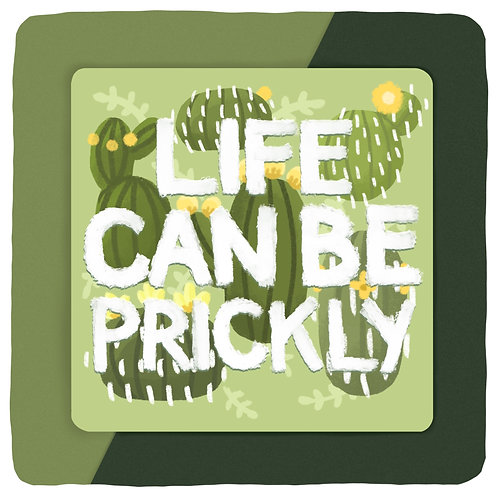 'Prickly' Art Print (5 x 5in)