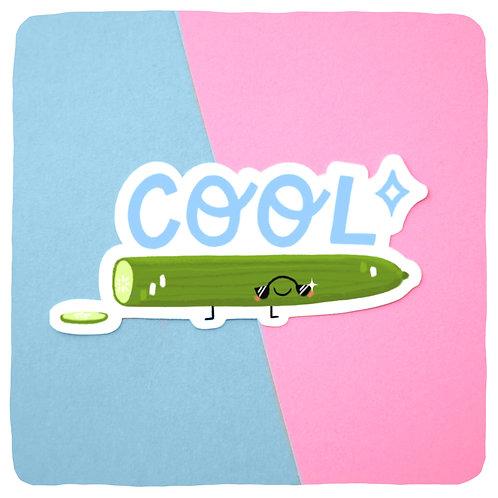 Colin the Coolcumber Waterproof Vinyl Sticker