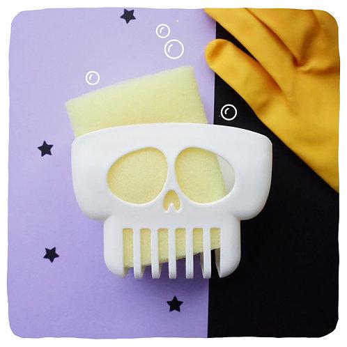 Mounted Skull Sponge/Soap Holder