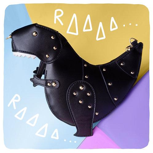 Black T-Rex Dinosaur Crossbody Bag