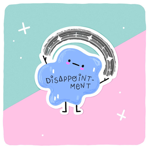 Dave the Disappointment Blob 'Greynbow' Waterproof Vinyl Sticker