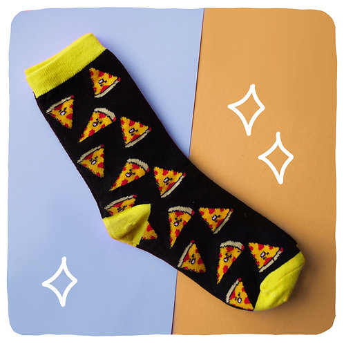 Mozza-hell-yeah Pizza Patterned Socks
