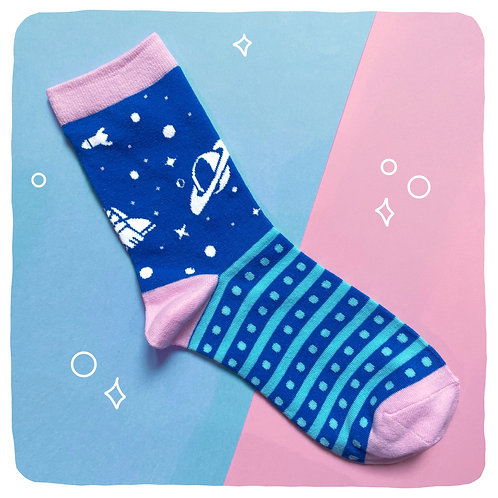 'Far Far Away' Space Socks