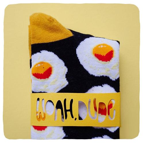Fried Egg Patterned Socks