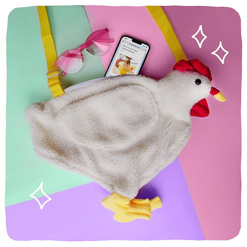 Kevin the Chicken Plush Crossbody Bag