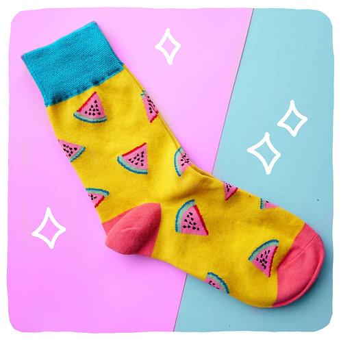 Fresh Watermelon Patterned Socks